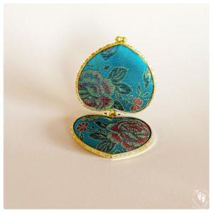 krishna seat blue embroidered brocade