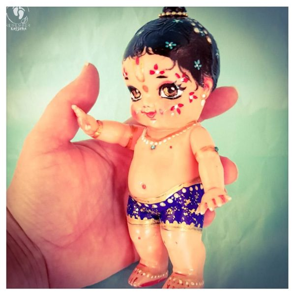 Standing balarama doll with moveable arms blue dhoti and lovely body