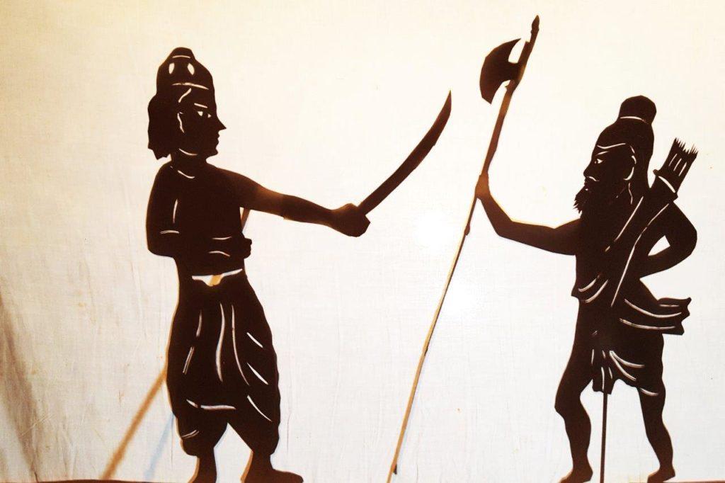parasharam silhouette shadow puppet incarnation