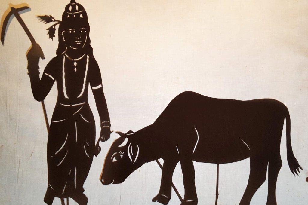 Balaram shadow puppet silhouette