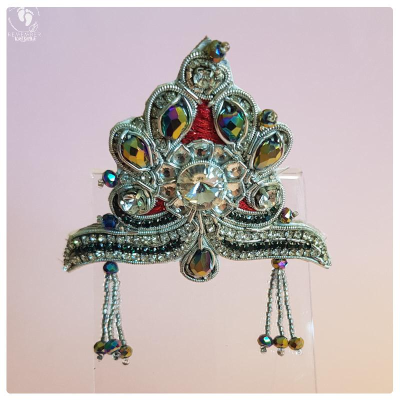 Simple and sweet majestic crown for radha doll or crown for Krsna doll