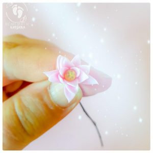 pink lotus flower deity accessory ornament polymer lotus